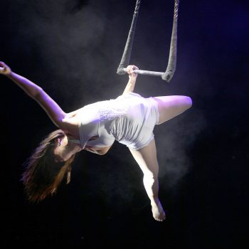 spektakulärer Akrobatik am Trapez