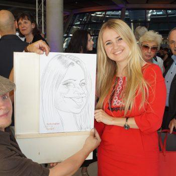 Der Schnellzeichner ist zu Gast im Bundestag in Berlin