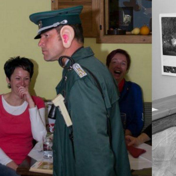 DDR Comedy mit einem Polizist in Uniform aus der ehemaligen DDR