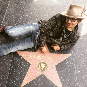 Johnny Depp Doppelgänger auf dem Walk of Fame