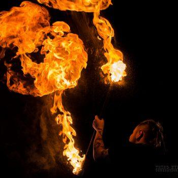 Feuershow aus Sachsen