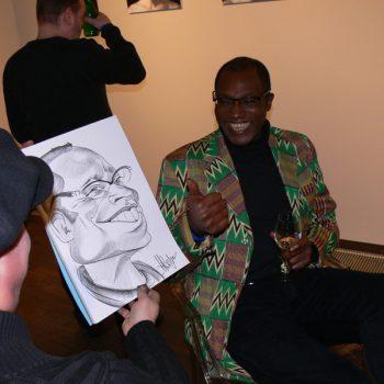Ein lustiges Portrait vom Schnellzeichner und Karikaturisten aus Berlin