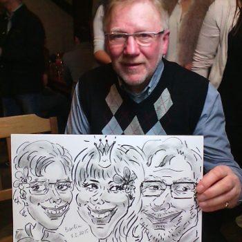 Eine Karikatur von einem Opa