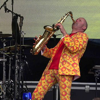 Stimmungsmacher mit Saxofon
