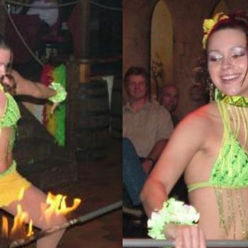 Limbo Show mit brasilianischem Temperament