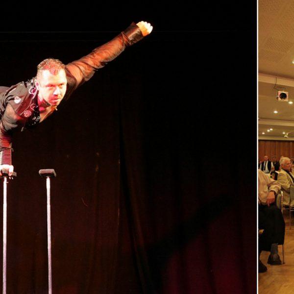 Eine moderne Equilibristik-Show