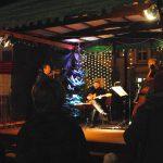 Das Trio auf dem Weihnachtsmarkt.