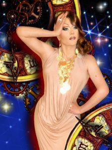 Travestiekünstler als wunderschöne Frau
