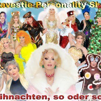 Erfolgreiche Travestieshow aus Sachsen verschiedene Fotos als Collage