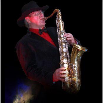 Alleinunterhalter mit Saxofonn