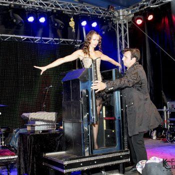 Der Magier auf der Bühne