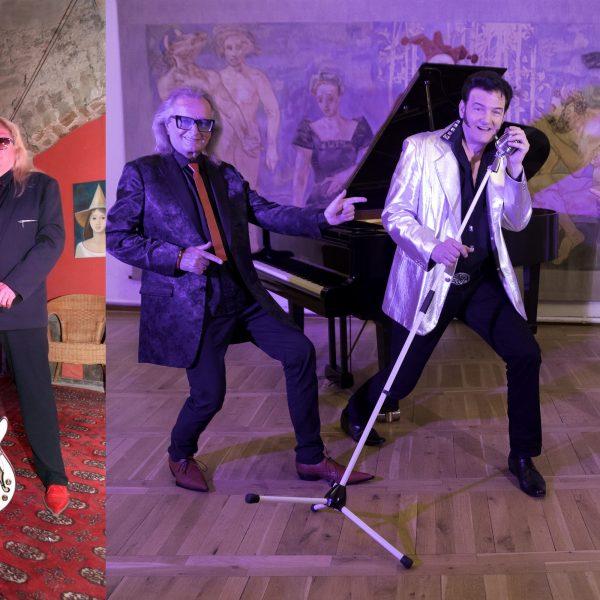 Collage von Elvis und der Boogie Band