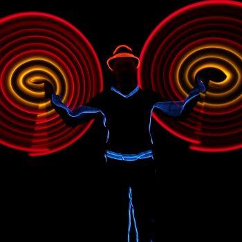Leuchtshow mit LED
